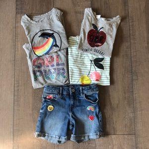 GAP Kids Girls TShirt Short Lot Bundle Size S 6/7